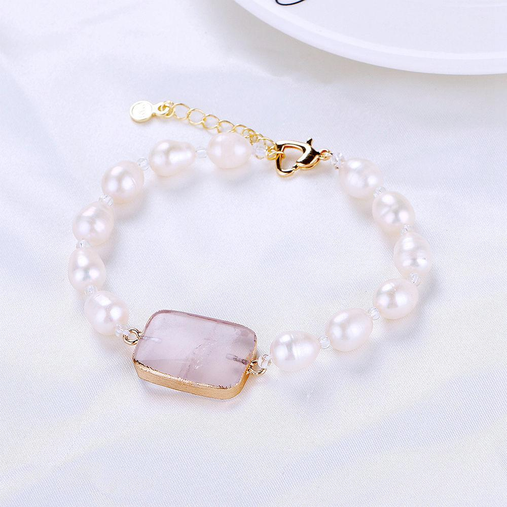 2ab2f6e35df34b 2019 Genuine Pearl Bracelets For Women Brides Bridesmaids Baroque Pearl  Jewelry Natural Stone Pulseras Bangle Gift B001 From Winwin2013, $43.21 |  DHgate.Com