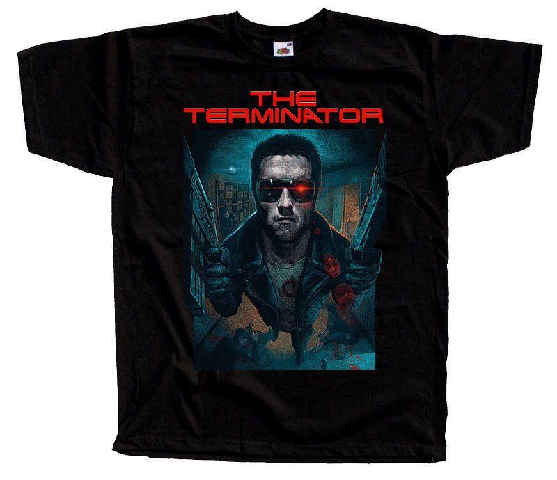 The Terminator V1 Movie Poster 1984 Dtg T Shirt Black All Sizes S