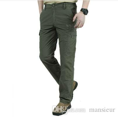 02be71c08a3 2019 Quick Dry Casual Pants Men Summer Army Military Style Trousers Men S  Tactical Cargo Pants Male Lightweight Waterproof Trousers From Mansieur