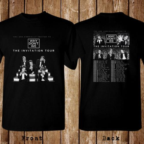 the invitation why dont we tour 2018 balck t shirt unisex print