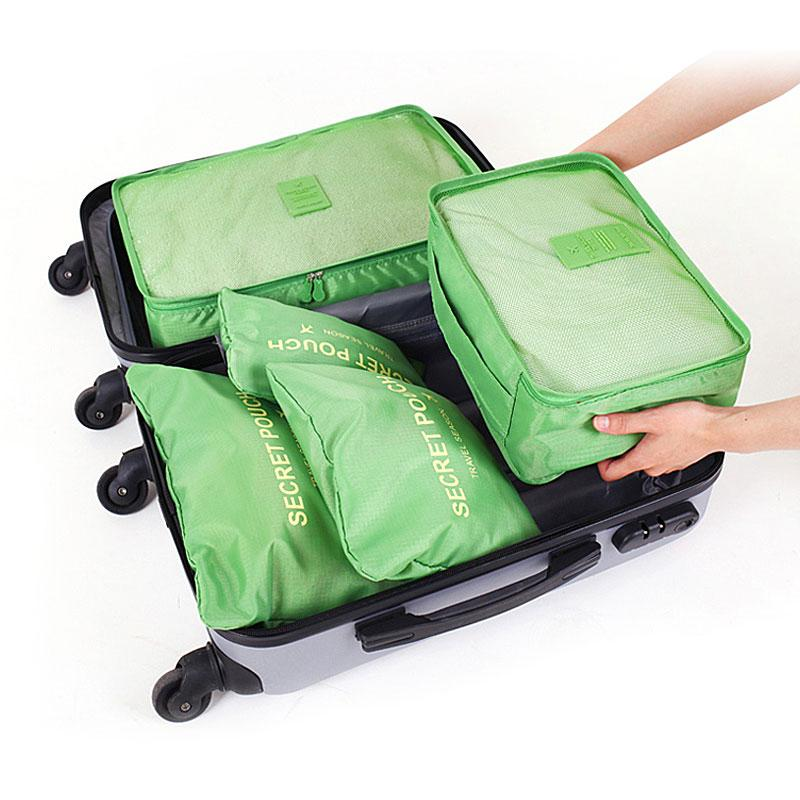 Travel Storage Bag High Capacity Clothes Tidy Pouch Luggage Organizer Portable Container Waterproof Storage Case 1 Set