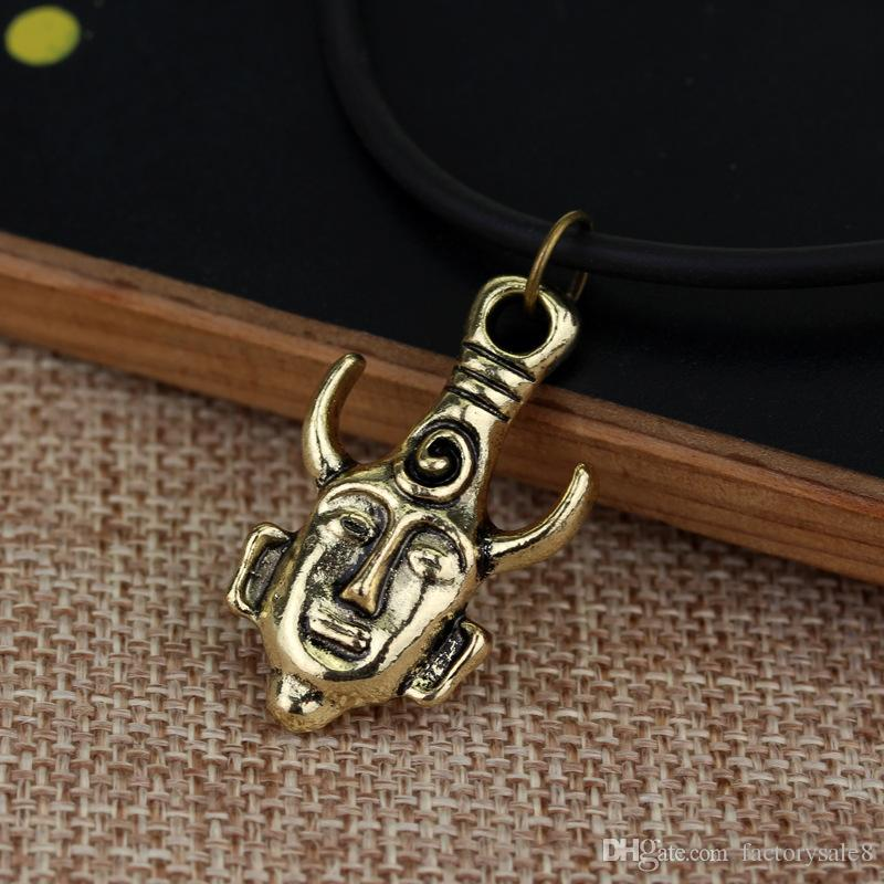 Hot style movie accessories pirates, evil necklace gold coin chain men's skull necklace pendant, .