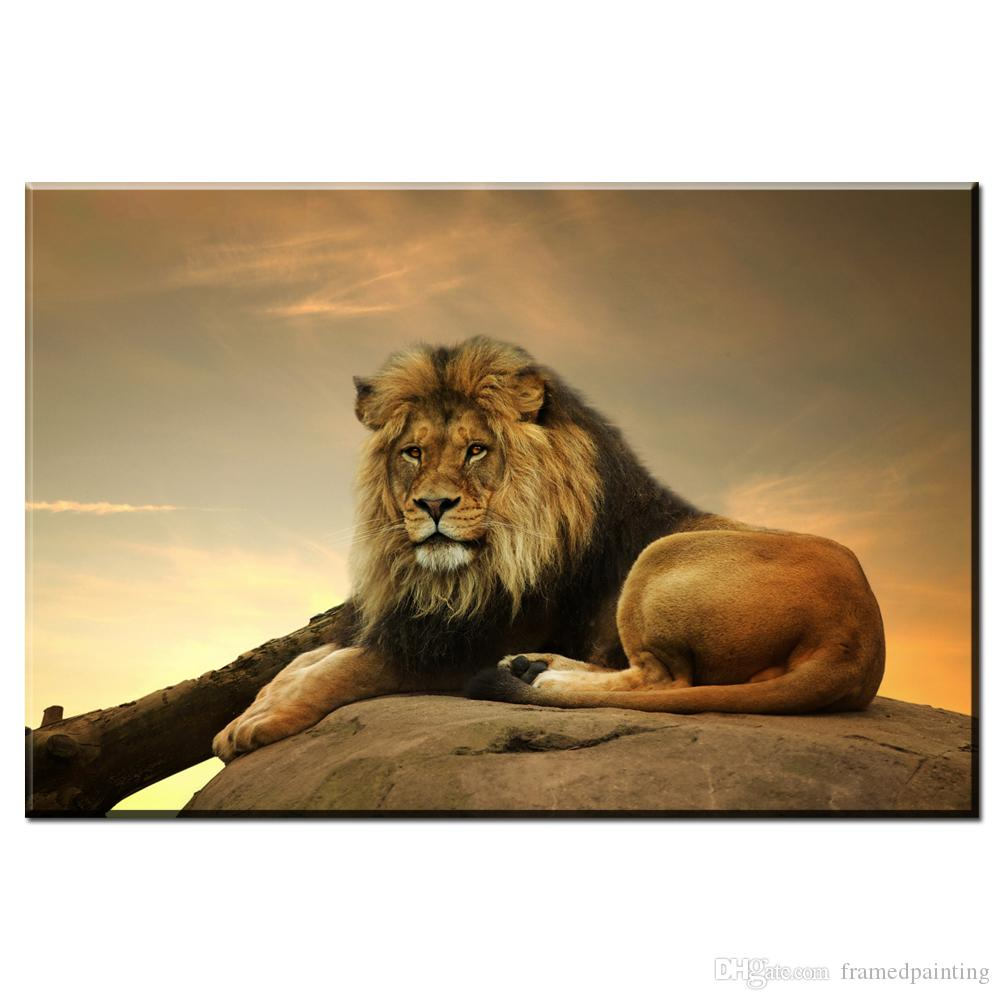 Lion Eagles Painting Wall Pictures For Living Room Animal Posters and Prints Home Decoration Canvas Art No Frame