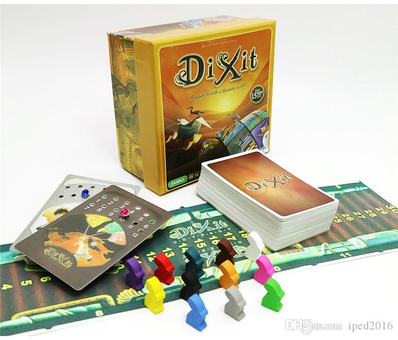2018 new Dixit 1 2 3 board game English&Russian rules for home party family fun kids card game