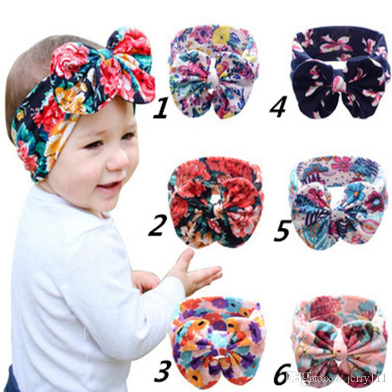 Baby Big Bow Headband Girls Bohemian Bunny Hairband Flower Printed Baby  Pick Color Hair Accessories Bandanas LC683 Cute Hair Accessories Online  Silk Flower ... b9c620636ce