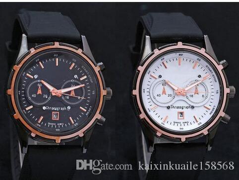 82e41dee8d4a Compre Barato Top Marca Sport Luxury Mens Relojes 2 Ojos Fecha Automática  Correas De Caucho Cuarzo Writ Reloj Para Hombres Muchacho Reloj Hombre A   8.13 Del ...