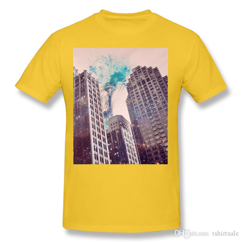 Coupons Adult 100 Cotton Fireworks T-Shirts Adult O-Neck Dark Blue Short Sleeve T Shirts Plus Size Personalized T-Shirts