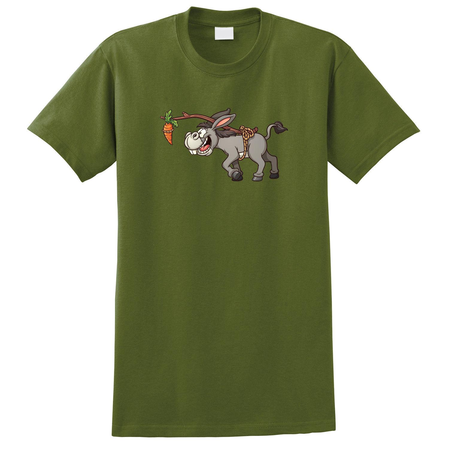 97527faae Funny Donkey Carrot Cartoon Print T Shirt Funny Unisex Casual Tshirt Gift T  Shirt A Day Retro Tee Shirts From Carenthusiast, $12.96| DHgate.Com