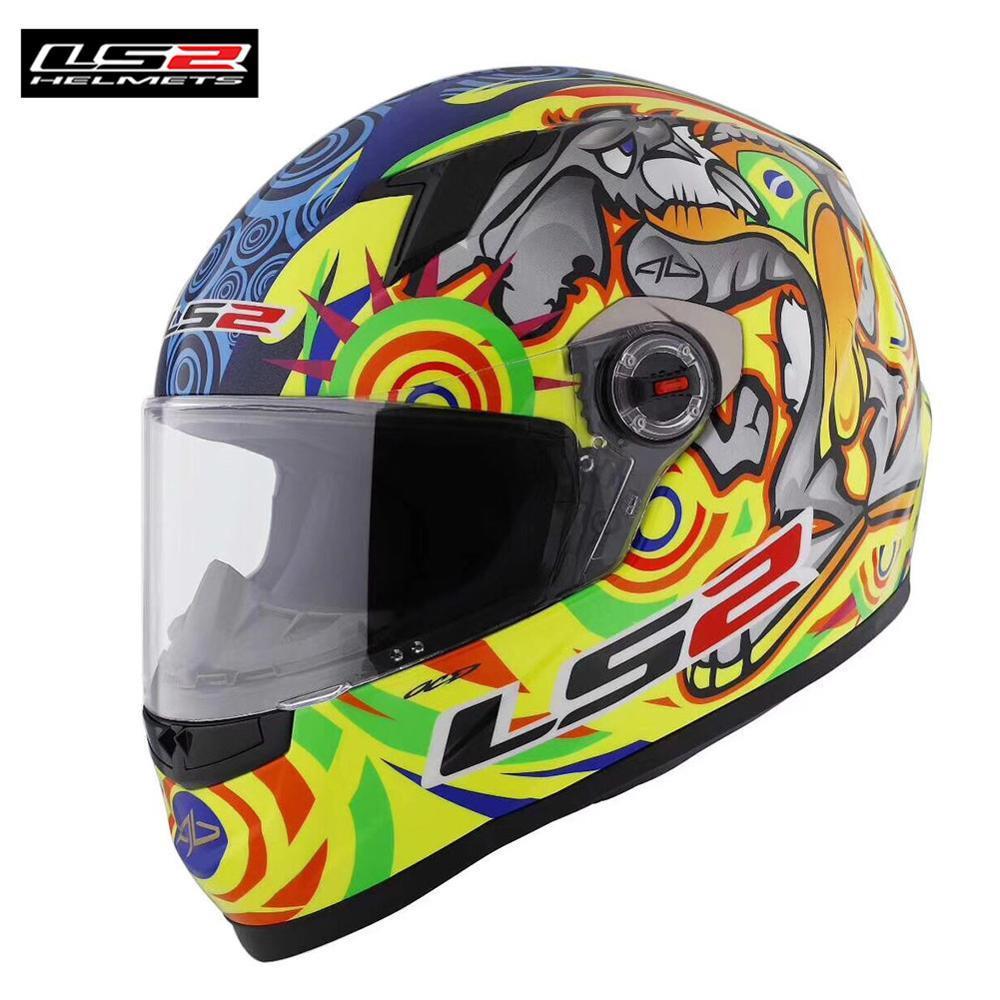 5c6550c87b12c Compre LS2 FF358 Alex Barros Capacetes De Motociclista Casco De Motocicleta  De Cara Completa Moto Hombres Racing Casque Moto Casco Nueva Llegada A   222.55 ...