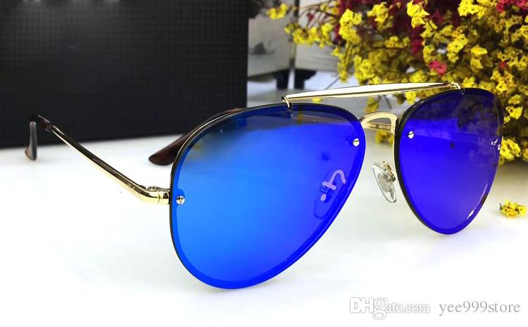 e557b38ef25dba New Fashion Brand Designer Men Sunglasses Fluorescence Polarized Lens