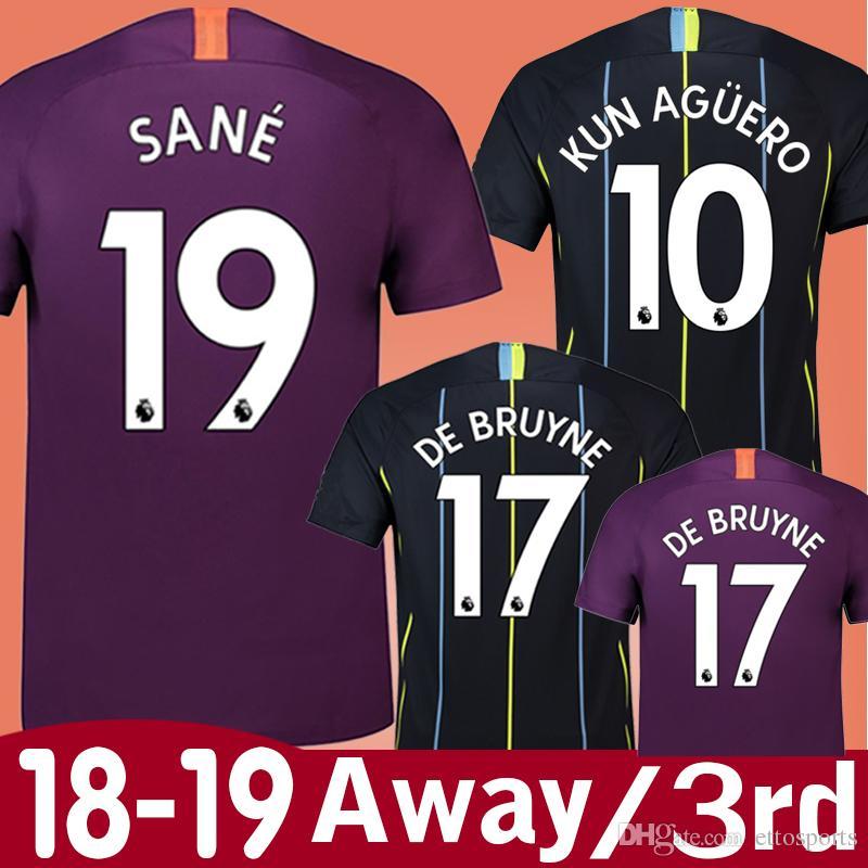 908a80af2 2019 New 18 19 KUN AGUERO Away 3rd Soccer Jersey 2019 STERLING CITY G JESUS  DE BRUYNE SANE SILVA BERNARDO Football Shirt Uniform From Ettosports