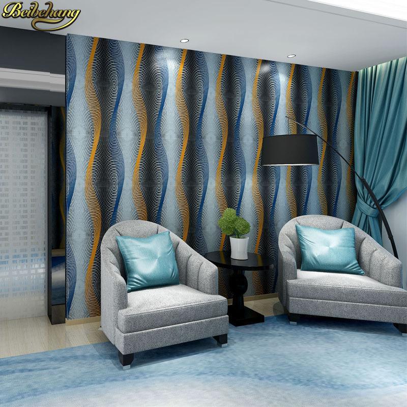 Großhandel Beibehang Geprägte Wellenförmige Tapete Schlafzimmer ...