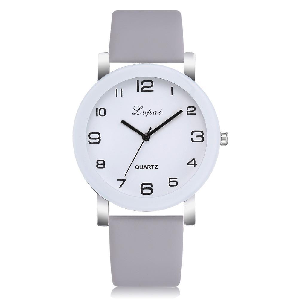 bc9c3d275f72 Compre LVPAI Casual Reloj De Mujer De Cuero 2019 Escala Digital Simple  Blanco Aleación Dial Cuarzo Reloj De Pulsera Pulsera Montre Connect A70 A   34.89 Del ...