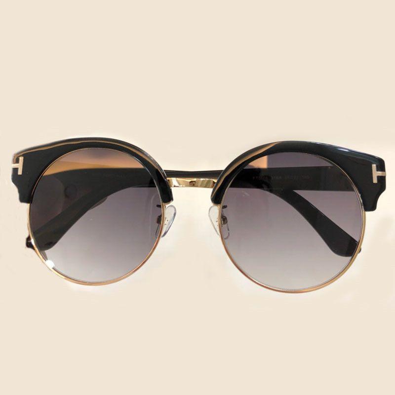a3efb3d63da52 Großhandel Fashion Designer Cat Eye Sonnenbrille Für Frauen Herren  Hochwertigen Halbrand Sonnenbrillen Spiegel Shades Oculos De Sol Feminino  Von Donglingshi ...