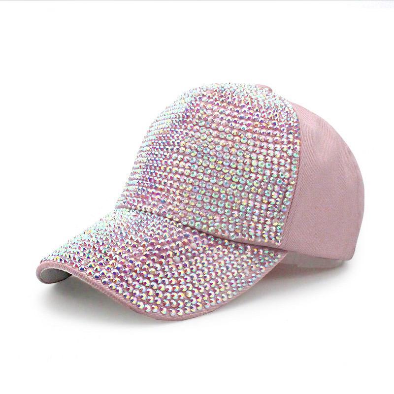 20631b2205b Girl Baseball Cap Hat Designer Pearl Rhinestone Baseball Hats for ...