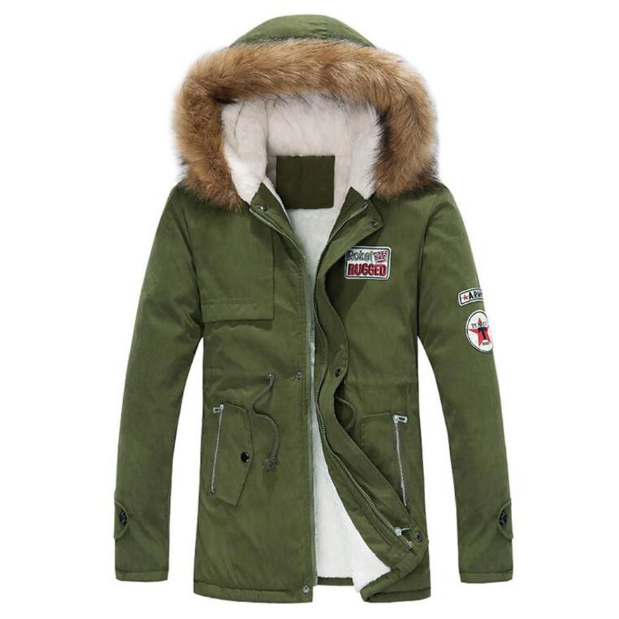 44ea46d6a 2018 new parkas Mens Autumn Winter Zipper Long Cotton Jacket Men Hooded  Coat fashion 3 colors Windbreaker Male Coat #0726 A#733