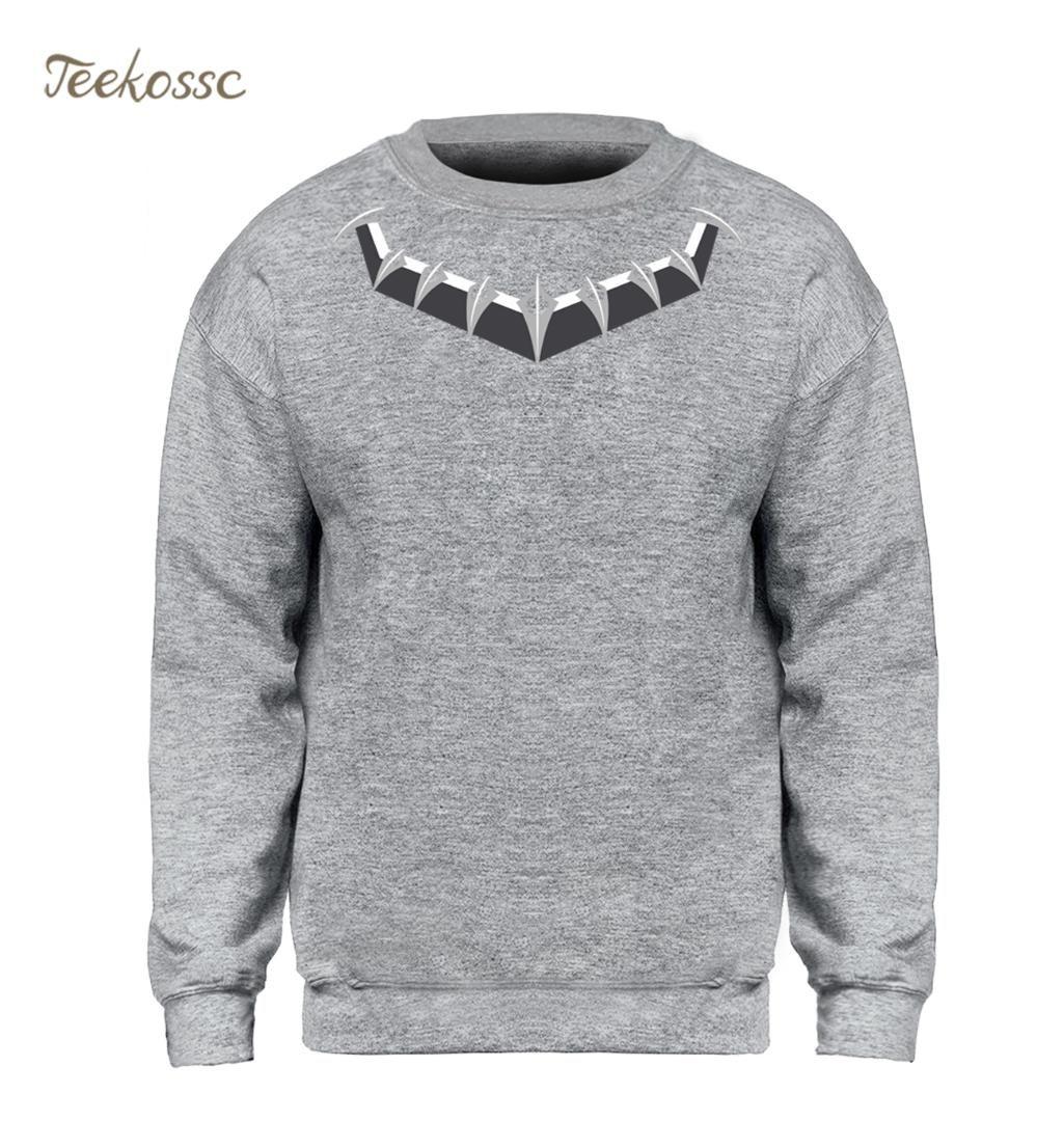 9ecbfcd11edd 2019 Black Panther Killmonger Hoodie Men Necklace Logo Sweatshirt Crewneck  Sweatshirts 2018 Winter Autumn Hip Hop Streetwear Mens XXL From Zanzibar