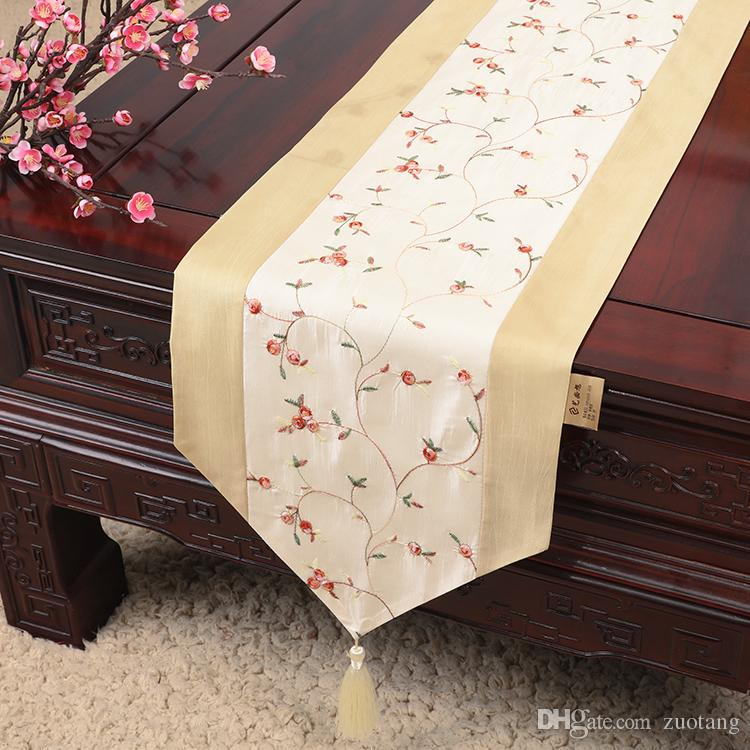 Embroidered Fruit Cheap Long Elegant Table Runners For Wedding Satin Fabric  Table Cloth Runner Christmas Party Dining Table Mat 300x33 Cm 120 Table  Runner ...