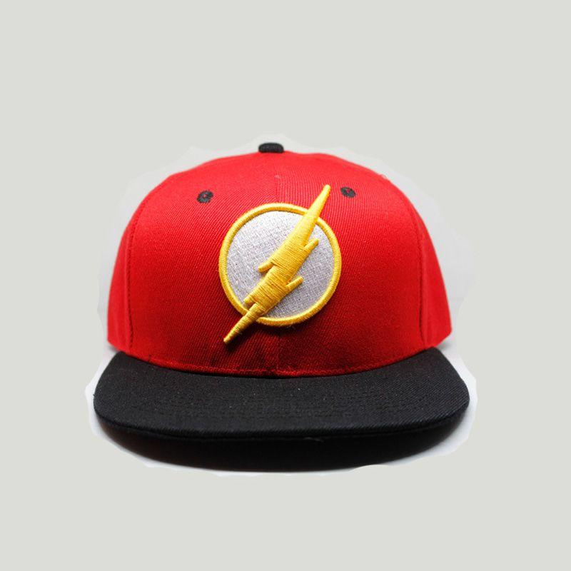 78fdce66caca3 Superhero The Flash Hats Snapback Adjustable Baseball Caps Casual Summer  Sunshade Hats Hip Hop Flat Caps Baseball Cap Flat Cap From Frenky