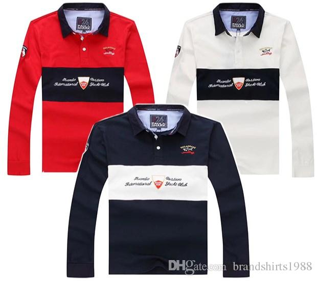 bdb45a60 2019 NEW Paul SHARK Yachting Polo Shirts 2018 #889 Italian Brand MEN'S  FASHION Long Sleeve Shirts Italy Tops T Shirt Business Casual Tees From ...