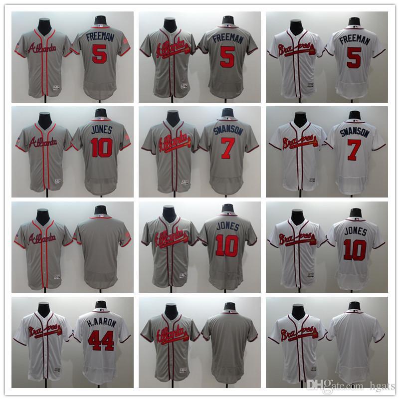 7 Dansby Swanson Jersey New Arrvial Atlanta Braves Jersey Mens 5 Freddie  Freeman 10 Chipper Jones Baseball Jerseys Cheap Online with  28.27 Piece on  Hgats s ... 2252aead4