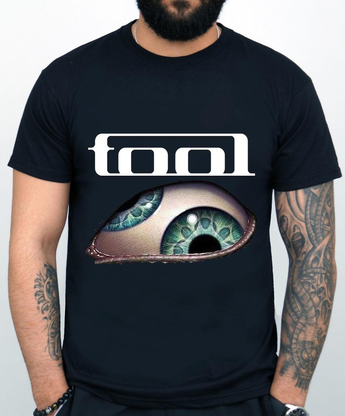 official photos 02144 81255 Tool Band T-shirt Rock Band T-Shirt Rock Band Tool T-shirt Black New