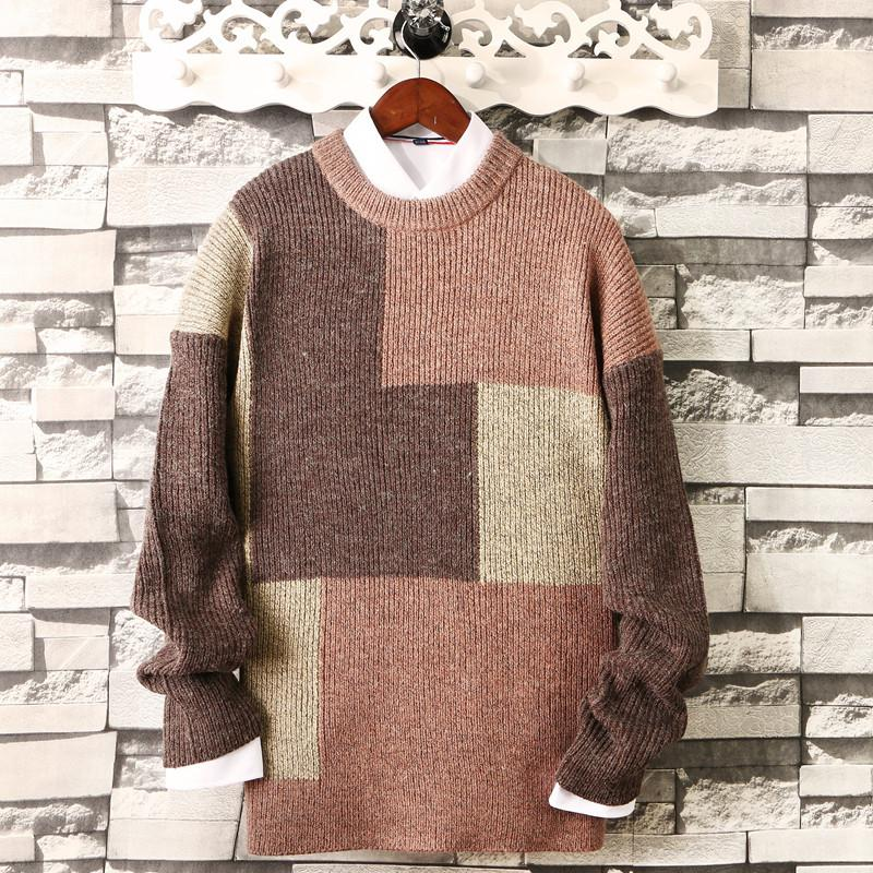 2019 New Winter Mens Sweaters Oversized Knit Sweater Casual