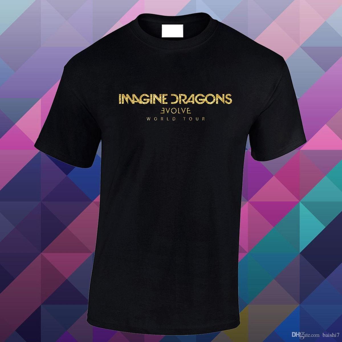 08e1c7084 Men's Evolve World Tour Glitter Gold Vinyl Loose Fitted T Shirt Printed T  Shirt 2018 Fashion Brand Top Tee