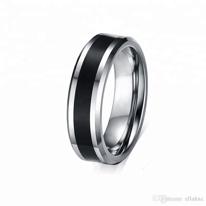 Black Tungsten Carbide Ring Blank Inlay For Men Wedding Band Ring