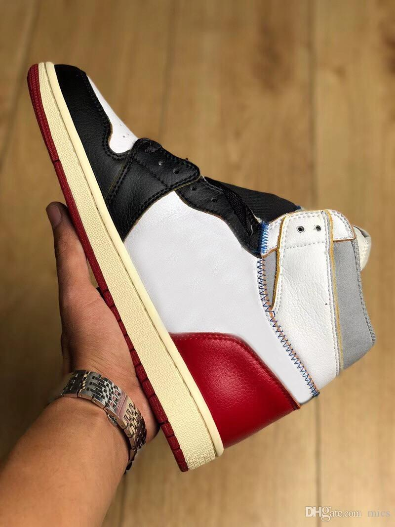 8c2becd2b7a9c6 Union X Air 2118Jordan 1 Retro High OG NRG White Varsity Red Wolf Grey  Black Man Basketball Shoes Authentic Sneakers With Box BV1300 146 Canada  2018 From ...