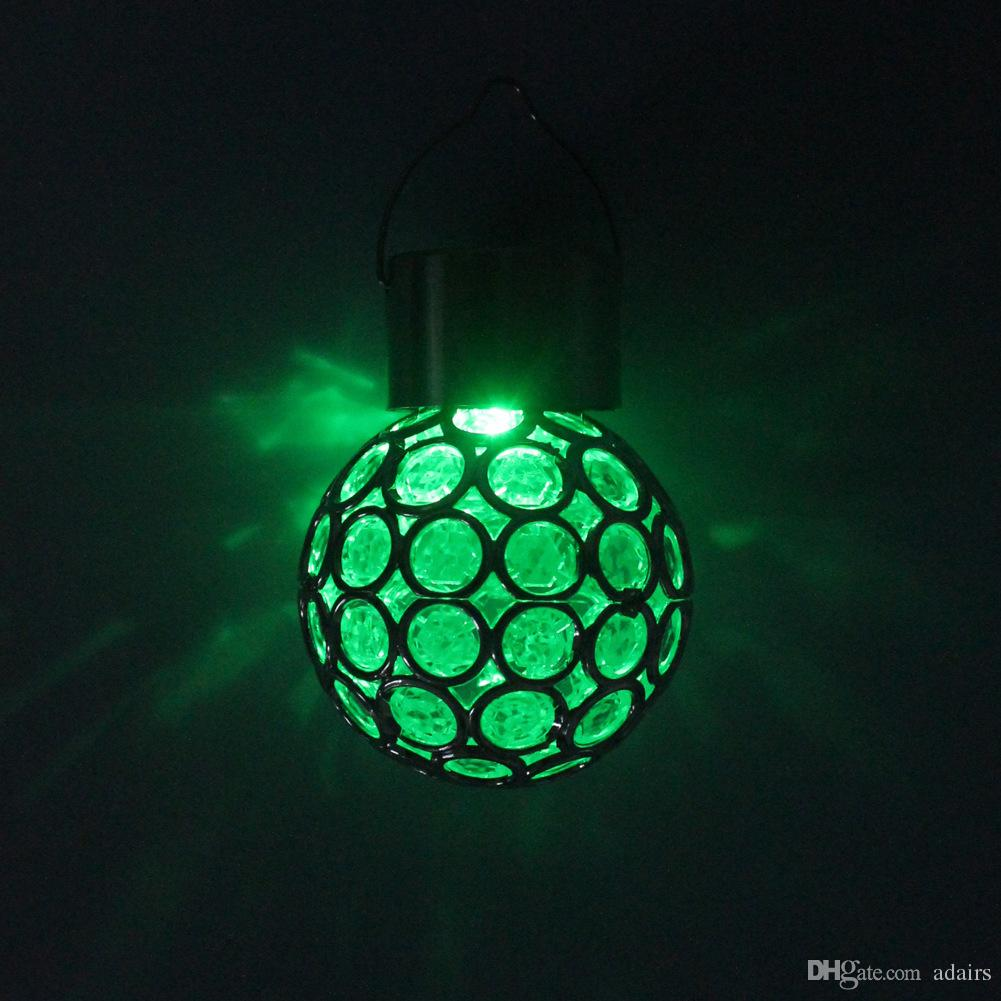Waterproof Solar LED Garden Lamp Outdoor Fence Villa Positive White/Color Light Lawn Street Lamp Peacock Eye Hang Light New
