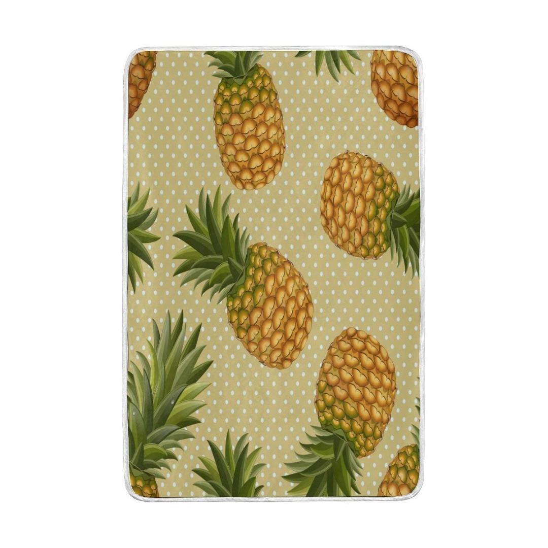 Großhandel Tropische Ananas Weinlese Decke Weiche Warme Gemütliche ...