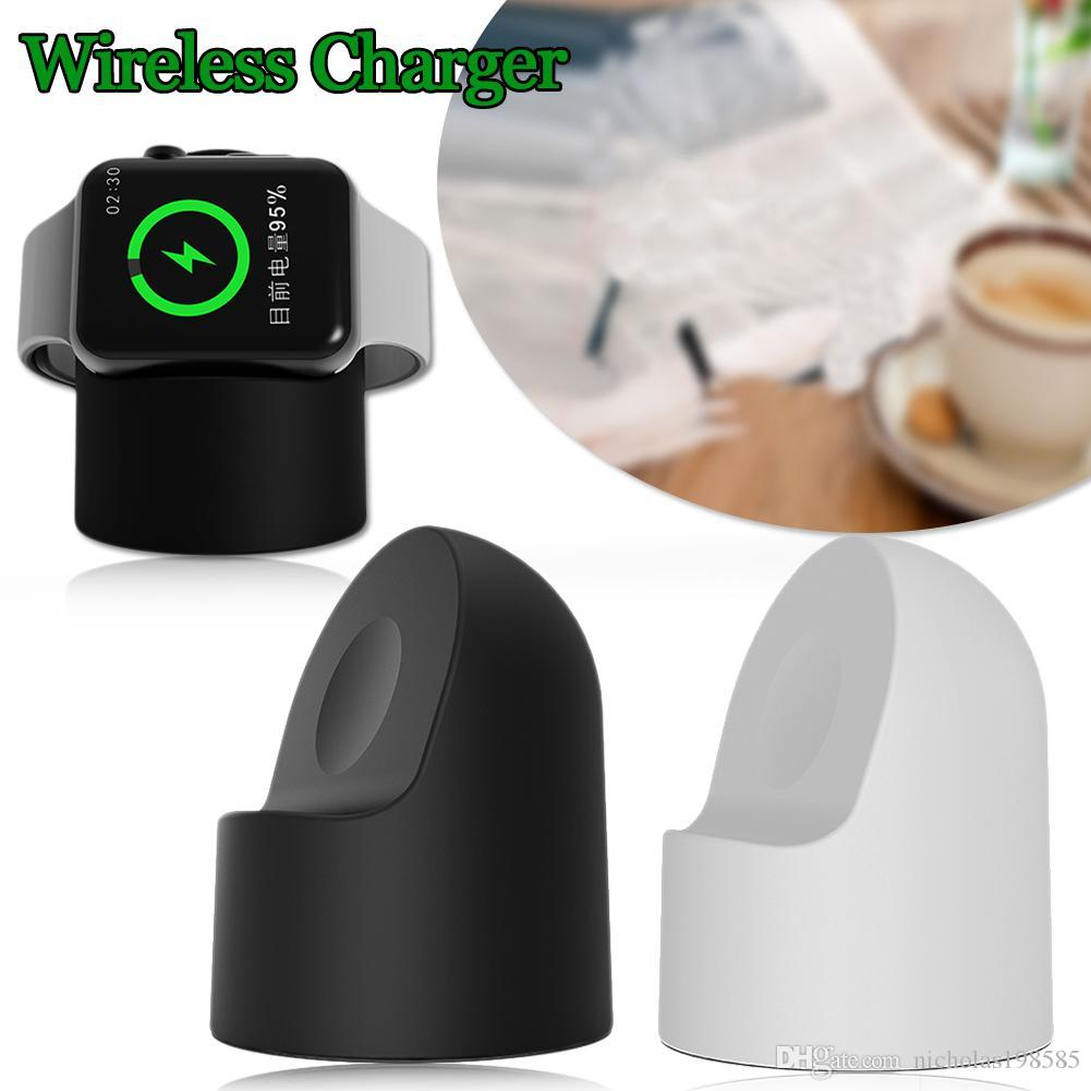 2018 For Apple Watch Charger Magnetic Wireless Charging Stand Holder Dock Charge Silicone Iwatch 1 2 3 38m 42mm Need 8 Pin Cable From