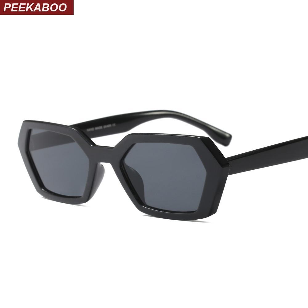 Sol Mujer Gafas Peekaboo Verde Compre Polígono De Cuadrado Negro WIED29H