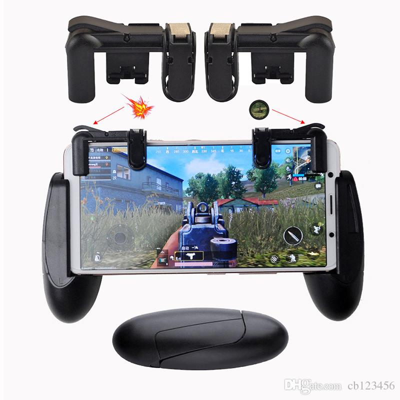 PUBG Mobile Game Fortnite Phone Gamepad Controller Gaming Joystick Trigger  Fire Button Aim Key Shooter Game Pad Handle Stand