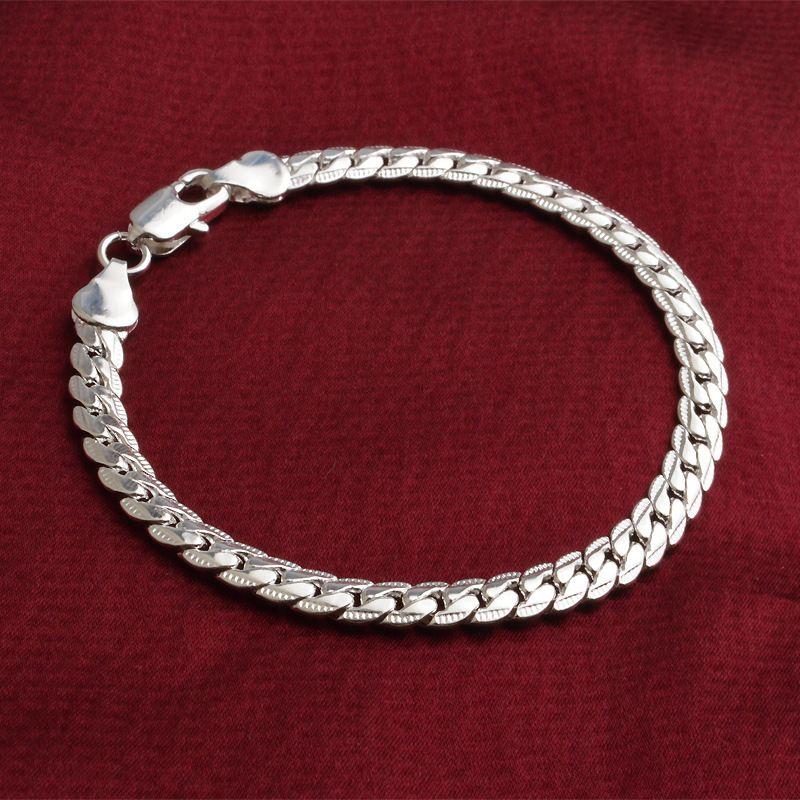5 MM Yılan zincirler bilezik 18 K Altın Kaplama ve 925 ayar gümüş erkek Link Bileklik kadınlar Için Hip hop Takı Toplu