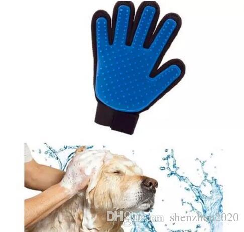 الحيوانات الأليفة تنظيف فرشاة الكلب مشط سيليكون قفاز حمام ميت كلب القط تدليك إزالة الشعر الاستمالة ماجيك Deshedding قفاز