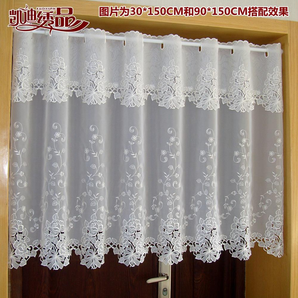 2019 Countryside Half Curtain Luxurious Embroidered Window Valance Lace Hem  Coffee Curtain For Kitchen Cabinet Door A 114 From Glenae, $20.52 |  DHgate.Com