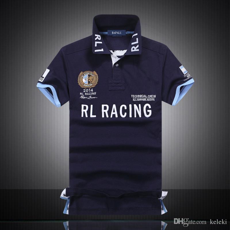 Erkekler Polo T Shirt% 100 Pamuk Müşteri Fit Kısa Kollu Takım Gömlek Tüm Boyut