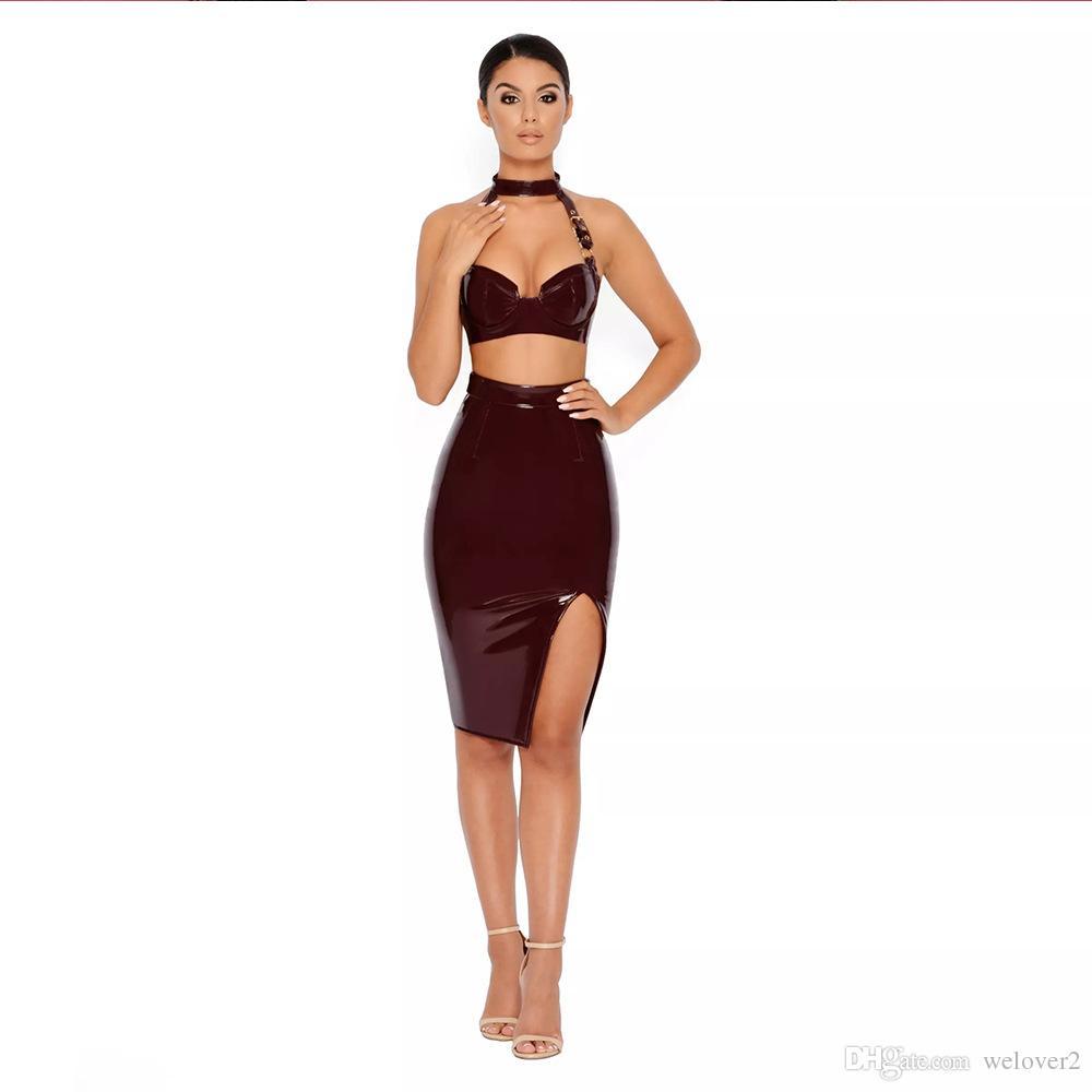 Night Party Dress Pu Leather Bodycon Dress Fashion Women Sexy ...