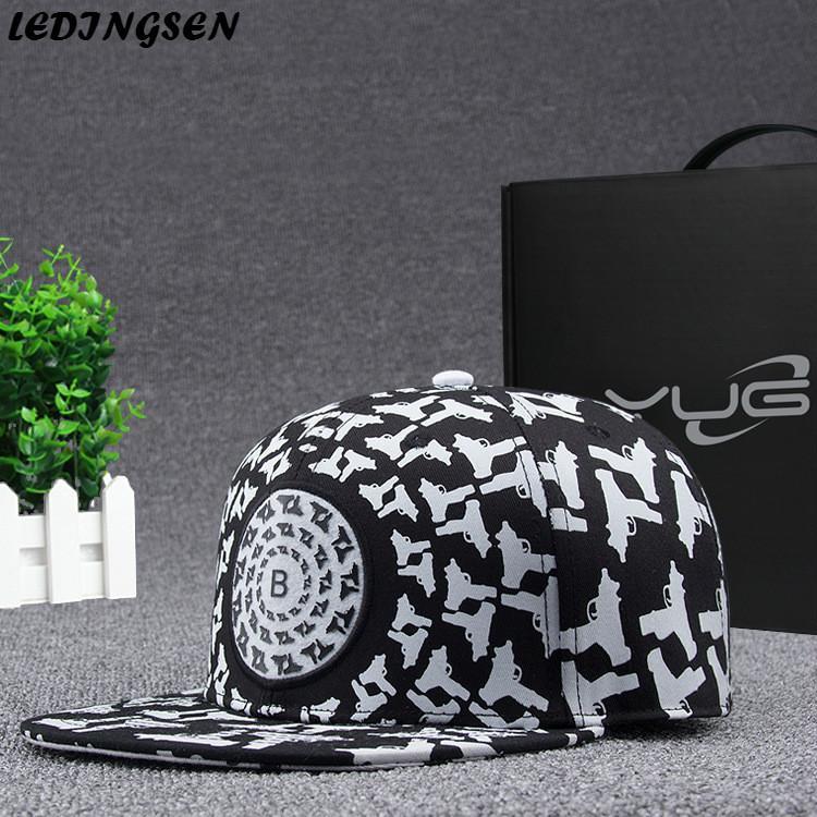 ee099fc4 LEDINGSEN 2018 Brand New Printed White Baseball Cap Men Hip Hop Dancer Hat  Summer Sun Trucker Caps Snapback Adjustable Dad Hat Millinery Richardson  Hats ...