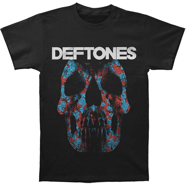 c7ebd64357809 Short Sleeves Cotton Fashion T Shirt Free Shipping Deftones Men's Minerva  Rose Skull T shirt Black