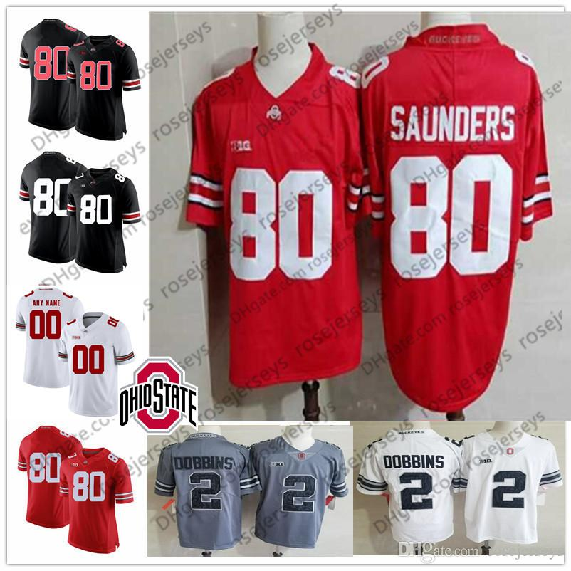 9a94ae322 2019 Ohio State Buckeyes  80 CJ Saunders 16 JT Barrett IV 21 Marcus  Williamson 25 Mike Weber Jr. White Red Black Camo NCAA Jerseys From  Rosejerseys