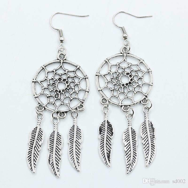 2019 Dream Catcher New Pattern Earrings Pendant Charm Feathered