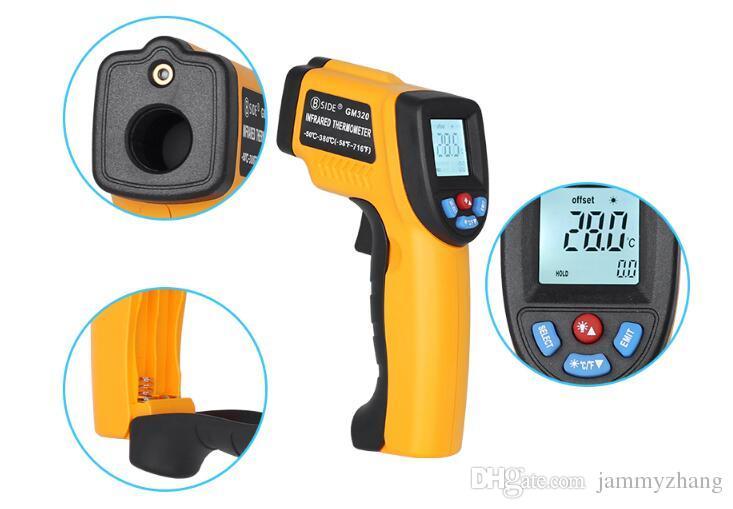 Grosshandel Gm320 Digital Thermometer Rot Laser Infrarot Thermometer