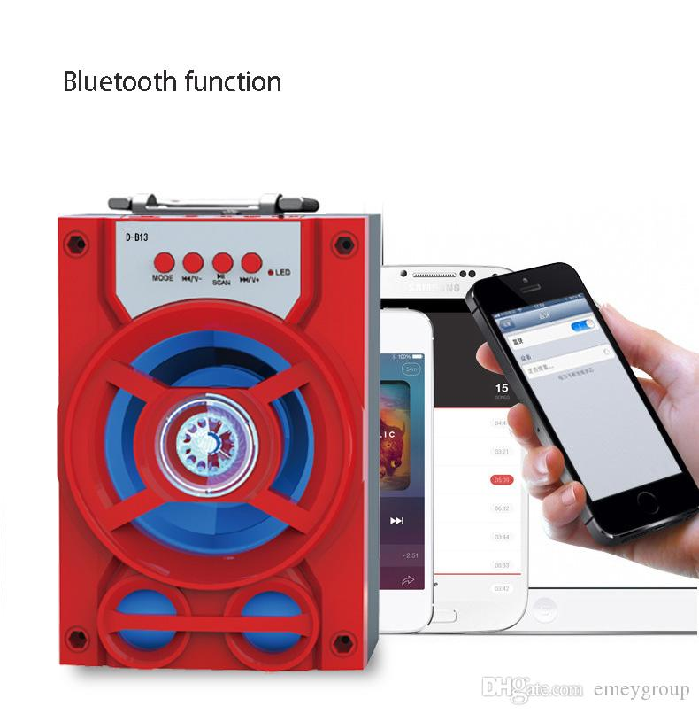 D-B13 Portable Outdoor High Power Bluetooth Speaker FM Radio TF USB Player Stereo Wireless Super Bass Loudspeakers