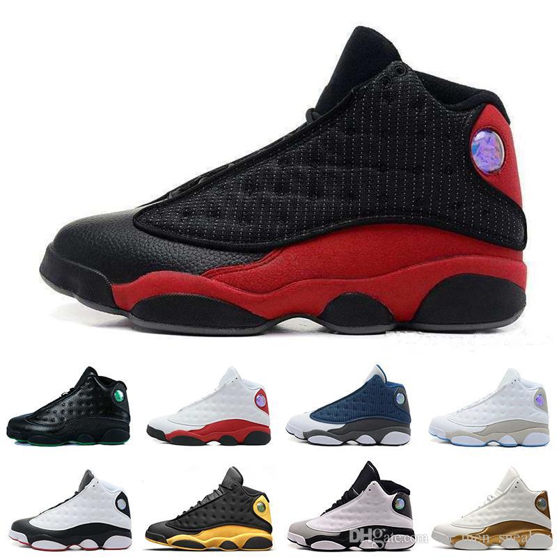 7b4ed16bf88 2019 Cheap Hot 13 13s Men Basketball Shoes Phantom Grey Toe Bred Wheat  Black Cat Chicago Love Respect Mens Sports Designer Sneakers For Men From  ...