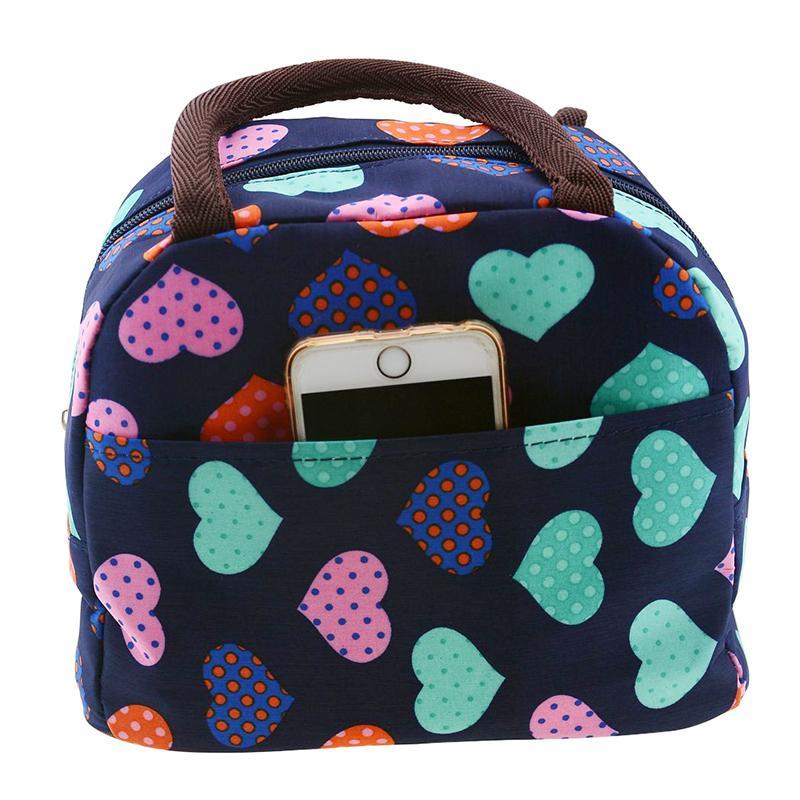 4215bbd762 Fashion Cute Love Heart Lunch Bag Tote Bag Organizer Lunch Holder ...