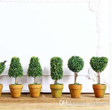 Top Mini Künstliche Pflanze Decor Dekorative Topfpflanze für Wohnzimmer  Home Office Groß-und Einzelhandel