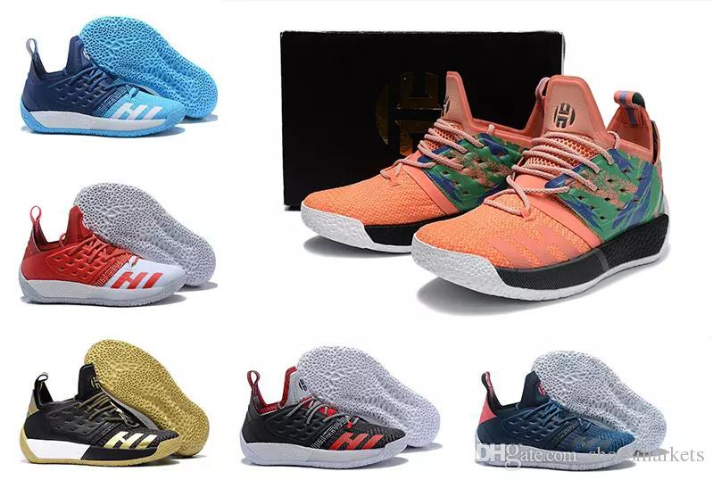 76c99ea8d59 2018 High Quality James Harden Vol 2 Basketball Shoes Black Blue White Grey Mens  Harden Vol.2 Sneakers For Sale 40 46 With Box Cp3 Shoes Kids Sneakers From  ...